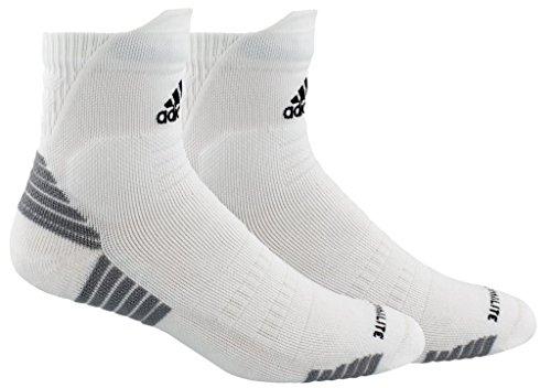 adidas Alphaskin Maximum Cushioned High Quarter Socks (1-Pack), white/black/light Onix, 6.5-9
