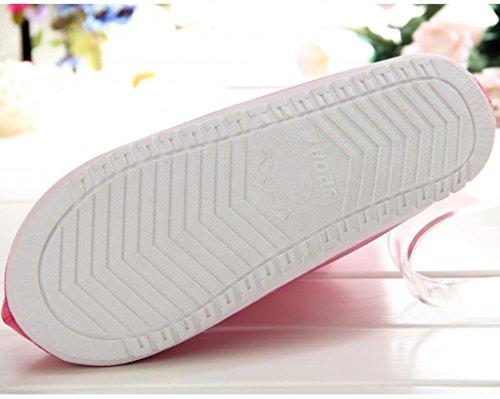 HevaKa Moda Zapatos Impermeables Azul Calzado Impermeable con Cremallera Reutilizable Cubiertas Alta Elástica Tela de La Cubierta Espesa Suela Antideslizante Zapatos Resistente al Desgaste de Cubierta Pink