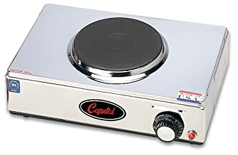 "Capitol Cast Iron Range Single Burner Hot Plate, 13.5"" x 9"" x 3"""