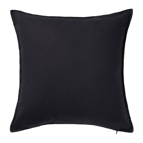 Black Throw Pillow ~ Gurli Cushion Cover 20