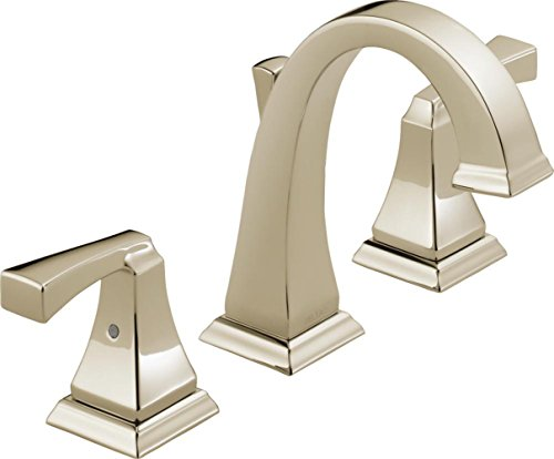 (Delta Faucet Dryden 2-Handle Widespread Bathroom Faucet with Metal Drain Assembly, Polished Nickel 3551LF-PN)