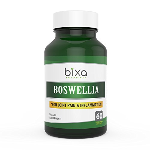 Bixa Botanical Boswellia Serrata Extract 65% Boswellic Acid | Anti-Inflammation & Anti-Arthritic | for Immunity | Swollen Lymph Nodes & Joint Pain Reliever 60 Veg Capsules (450mg) 450 Mg 60 Capsules