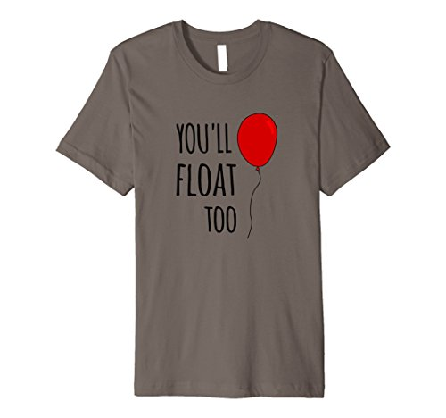 Mens Red Balloon You'll Float Too Halloween Horror