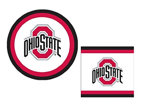 - Ohio State University Buckeyes Party Supplies for 20: Large Plates and Napkins for Tailgaiting, Birthday, OSU Graduation