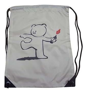 BANKSY 'oso de peluche Bomber de oso con tarta de' bolsa con cordón para deportes