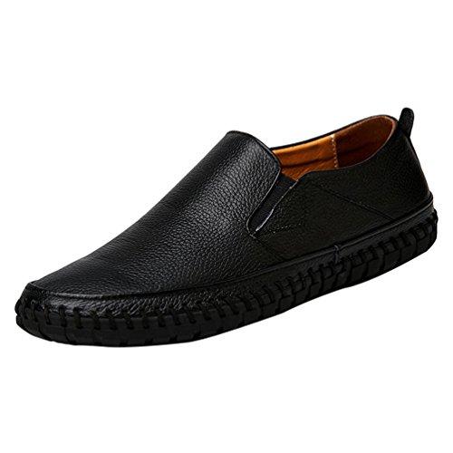 Hommes Chaussures Entreprise Au Flâneur Décontractée Noir Mocassins volant Chaussures Anguang Confortable 4xg4PT