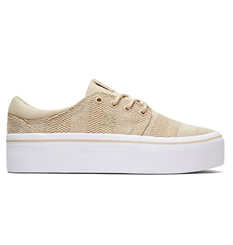 DC Shoes Trase Platform TX SE - Shoes - Schuhe - Frauen - EU 40.5 - Beige