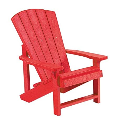 Superieur Recycled Plastic Kids Adirondack Chair, Red, 24u0026quot;L X 20u0026quot ...