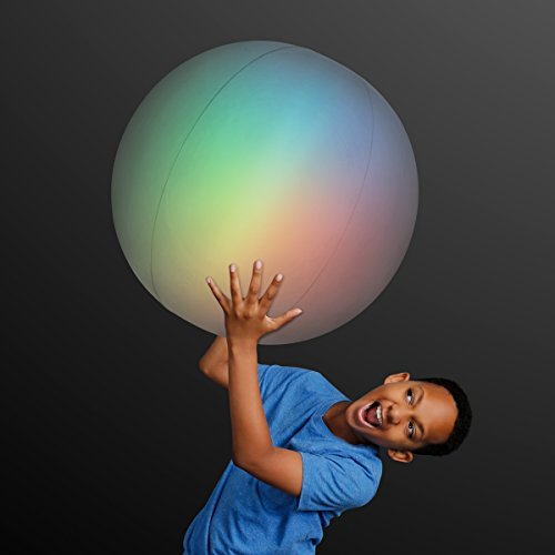 Light Up Jumbo Inflatable Beach Ball with Color Changing LED Lights
