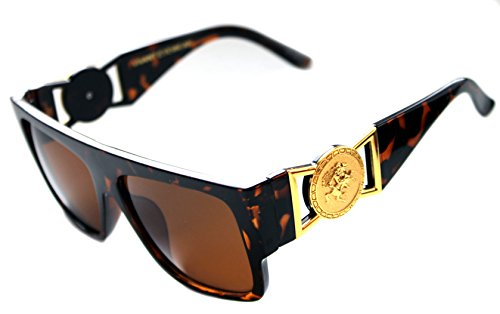 ee9d312bb7b MEN S FLAT TOP GOLD COIN DESIGNER HIP HOP SUNGLASSES VINTAGE 424 RETRO 80 S  90 S