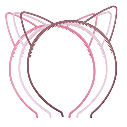 Lux Accessories Shades of Pink Cat Ear Headband for Girls Party Favor Set (3pcs)