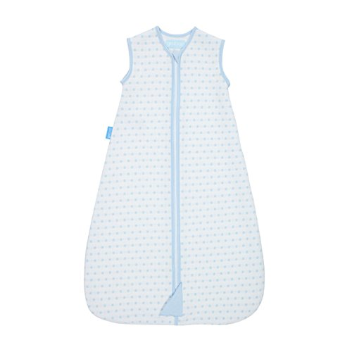 The Gro Company Jacquard Grobag, 0-6 Months, 2.5 Tog, Blue Squares AAA5174