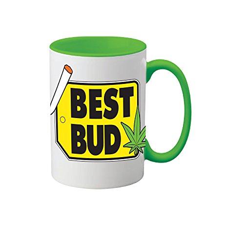 Mug Weed Leaf Coffee Mug Best Bud Cannabis Ceramic Novelty Coffee Mug and Tea Cup 11 oz