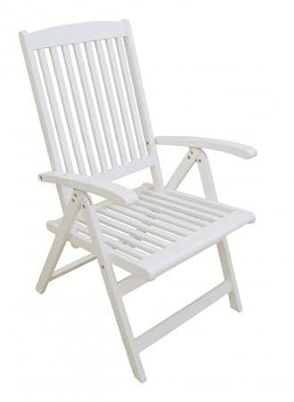 Gartenstühle holz weiß  Amazon.de: Gartenstuhl Hochlehner weiß lackiert Akazie FSC - Holz