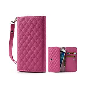 Rose Elegant Rhombus Leather Pouch Girl Women Case Cover Sleeve Wallet Bag For Samsung Galaxy S4 I9500 S3 I9300 Iphone 5 5S4 4S Ipod