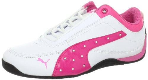 PUMA Drift Cat 4 Shiny Sneaker (Toddler/Little Kid/Big Kid),White/Cabaret,3.5 M US Big Kid ()