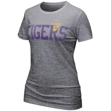 59a66d09fb42 Amazon.com   Nike LSU Tigers Ladies Ash Favorite Burnout T-shirt ...