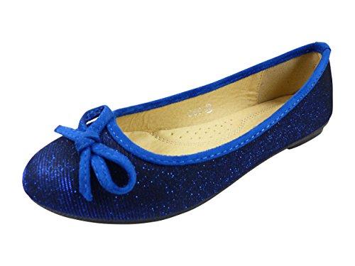 Chaussmaro, Damen Ballerinas Blau