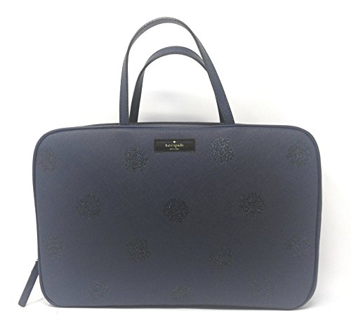 Kate Spade Haven Lane Giana French Dot Makeup Cosmetic Bag - French Navy Dot