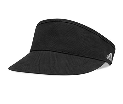 [adidas Golf Performance High Crown Front Hit Visor, Black/Chrome] (Adidas Sport Performance Buckle)