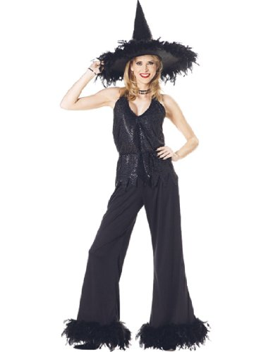 [Witch Glamour Adult (Black;One Size)] (Glamour Witch)