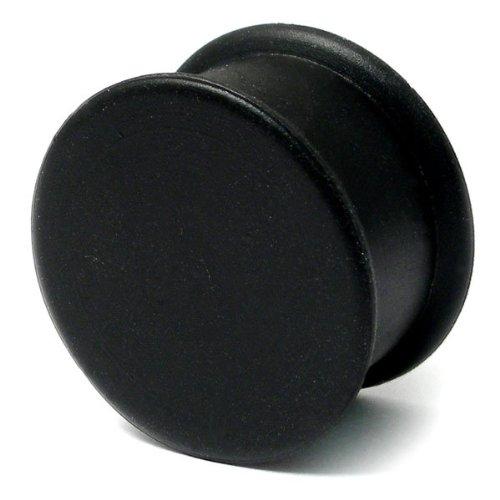 TDi bodyjewellery Plug d'oreilles en Silicone Diamètre: 20 mm-Noir