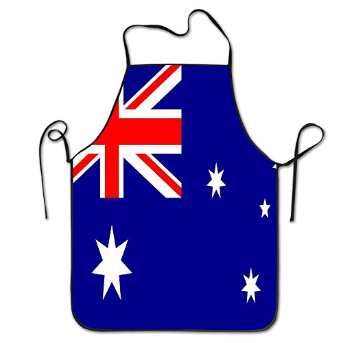 ElephantAN Australia Flag Durable Washable Adjustable Kitchen Overlock Aprons Mother Gift Cooking Baking Restaurant Unisex - 1950s Costumes Australia