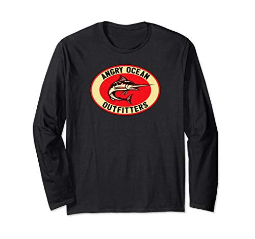 Angry Ocean Outfitters Marlin Deep Sea Fishing Long Sleeve T-Shirt