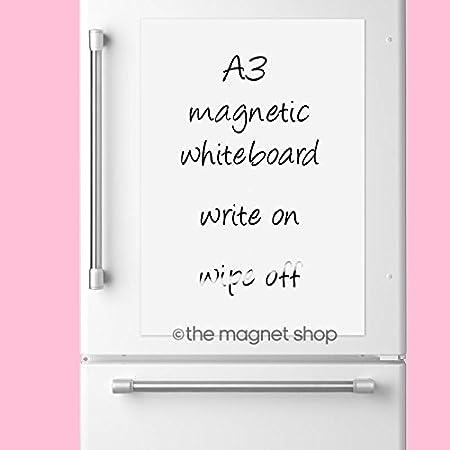 A3 Dry Wipe Magnetic Whiteboard Flexible Notice Memo Board   Kitchen Fridge  Magnet Shopping List Family