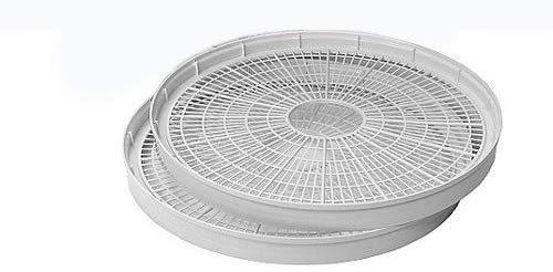 NESCO WT-2, Add-a-Tray for Dehydrators FD28JX and FD-35, White, Set of 2