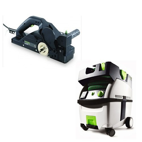 Festool PI574553 Planer with CT MIDI HEPA 3.3 Gallon Mobile Dust Extractor by Festool