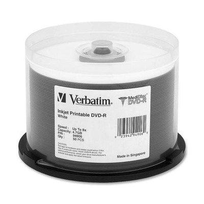VER94906 - Verbatim MediDisc 94906 DVD Recordable Media - DVD-R - 8x - 4.70 GB - 50 Pack Spindle by Verbatim