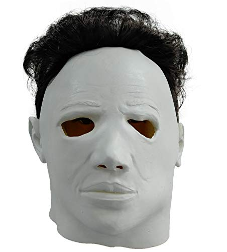 ZhangHD Horror Movie Michael Myers Halloween Mask Cosplay Props Adult Latex Full Head Mask -