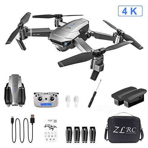 VIPO Drone with Camera, SG907 5G 4K HD GPS RC Quadcopter Dual Camera Gesture Photo Video Foldable Drone, Including 2…