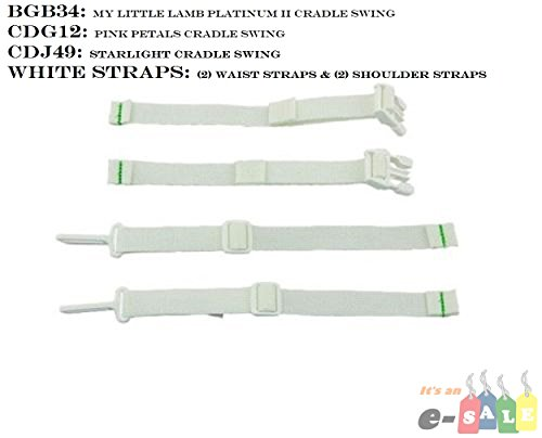 Fisher Price SWING Replacement Parts, Pad, Adaptor, Straps (STRAPS Cradle n Swing) - N/a Part