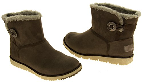 Dark Ladies Ankle Fur Oliver S Brown Lined Booties rxUYrFqw