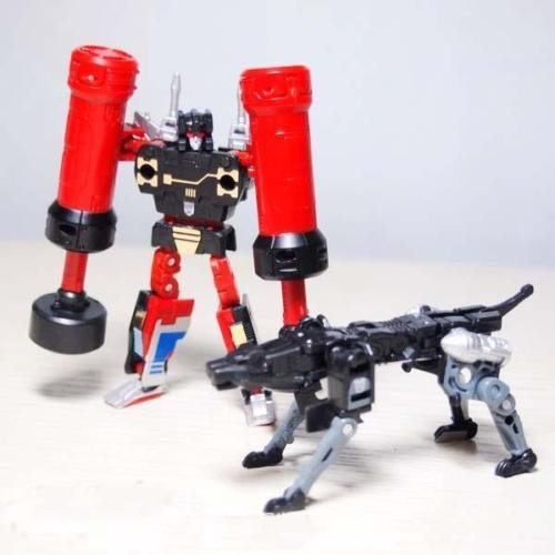 Deluxe Red Fire Ninja Costumes (New Transformers Masterpiece MP-15 Ravage & Rumble Jaguar for Soundwave)