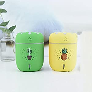 Mikey Store Humidifier Mini USB Air Aromatherapy Humidifier DIY Small Chamomile (Green)