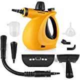 Handheld Pressurized 9 in 1 Steamer Steam Cleaner with 9-Piece Accessory Set for Bathroom, Kitchen, Surfaces, Carpet, Orange
