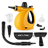 Lambow Handheld Pressurized Steam Cleaner with 9-Piece Accessory Set - Multi-Purpose and Multi-Surface All Natural, Chemical-Free Steam Cleaning for Home, Auto, Patio, More