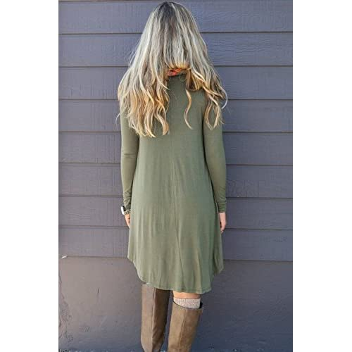 ecff170bc4cec best POSESHE Women s Long Sleeve Casual Loose T-Shirt Dress - snipe.no