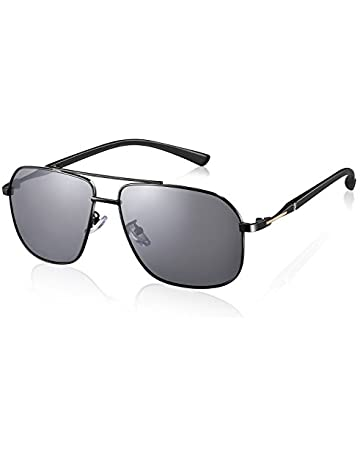 02b375b9ca Rezi Polarized Sunglasses for Men, Retro Aviator Sunglasses with Protective  Cover, Square, 100