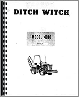 ditch witch 4010 trencher operators manual ditch witch rh amazon com ditch witch 6510 operators manual ditch witch operator's manual vibration