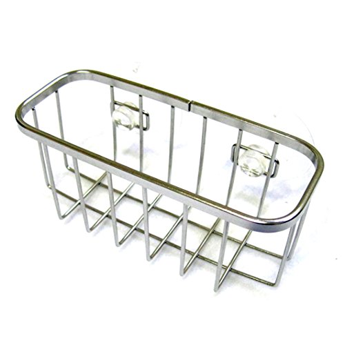 Stainless Steel Soap Dish Scrub Rack Dish Wash Sponge Sink Holder Suction Cup by Daemyung