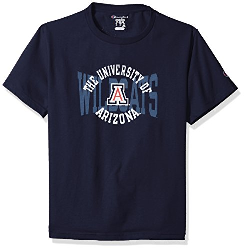 - Champion NCAA Youth Boys Shirt 100% Cotton Tagless Tee, Arizona Wildcats, X-Large