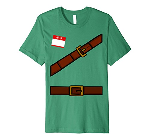 Mens Dwarf Halloween Group Costume Idea T-Shirt with Name Plaque Small Kelly Green (Principal Halloween Costume Ideas)