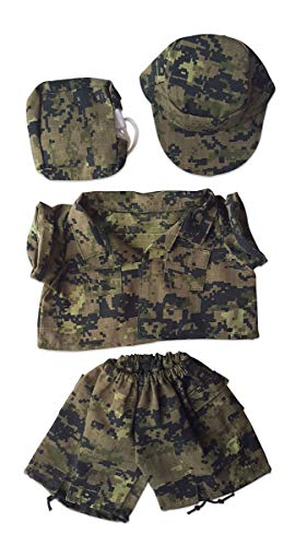 "Special Forces Camos Outfit Teddy Bear Clothes Fits Most 14"" - 18"" Build-a-bear and Make Your Own Stuffed Animals  from Bear Factory"