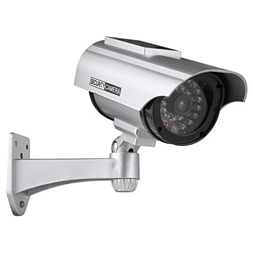 Great Deal! ANNKE Solar Powered Dummy Fake Security Camera with Flashing Red LED for Indoor and Outd...