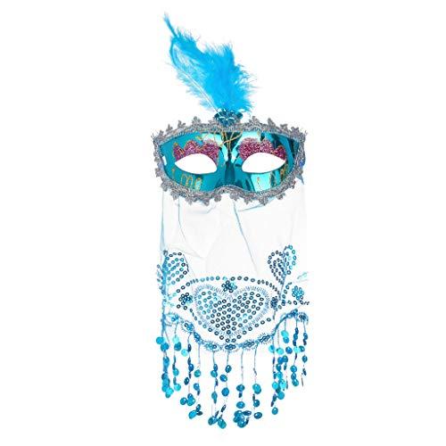 Halloween Glitter Fancy Animal Lace Eye Mask Felt Cosplay Mask Masquerade Mask Oriental Fluffy Feather Venetian Mask (Spiderman For Nintendo 64)