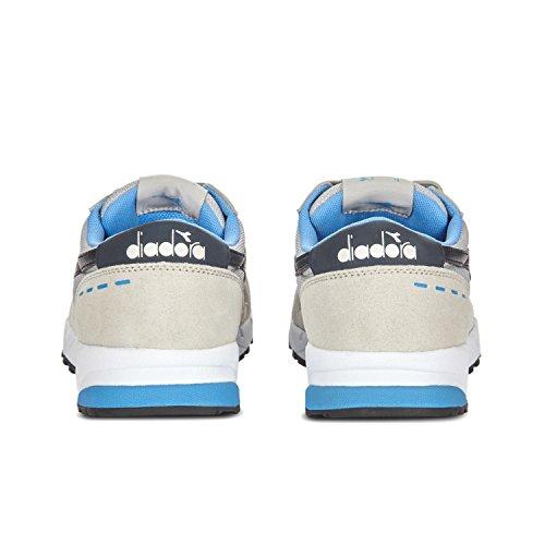 Scarpe blu Azzurro C6490 Diadora Low Uomo Grigio Top 90 Run Alluminio EHwq6O